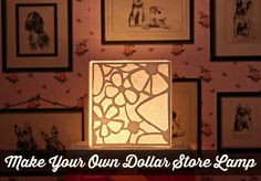Make a lamp by using foam core board from the dollar store. Create a high end look for pennies!