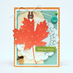 """It's Monday again which means we'll be mixing and matching some Pebbles products to show you just how well our collections can be used with one another. """"For today's Mix and Match Monday I wanted to create a set of cards using a common foundation and color scheme. I chose Apricot, Aqua and Leaf colored …"""