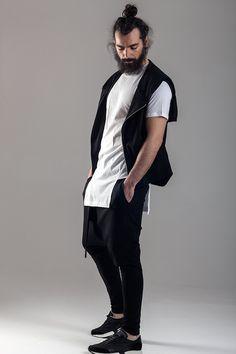 Long lee  Sleeveless hoody vest