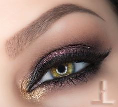 """Smokey Night Out"" by Linzlewsions using the Makeup Geek Cocoa Bear eyeshadow and Liquid Gold pigment."