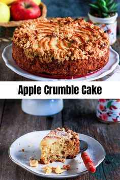 Chunks of juicy apples, soft cinnamon scented sponge, crunchy streusel topping, yes that's my vegan Apple Crumble Cake. Perfect with a cuppa! Roasted Apples, Baked Apples, Vegan Recipes Easy, Baking Recipes, Recipe Using Apples, Apple Crumble Cake, Artisan Food, Streusel Topping, Tea Cakes