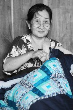 #quilt #handmade #Vietnam #socialbusiness #development Learn Earn, Social Business, Vietnam, Quilts, Learning, Handmade, Women, Comforters, Hand Made