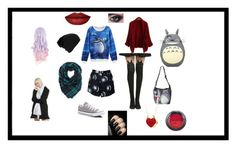 """""""Totoro"""" by happymalfoy ❤ liked on Polyvore featuring Ghibli, Motel, Converse and NYX"""