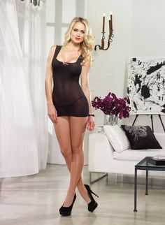 Lace Up Back Chemise Pink Diamond Collection 8089