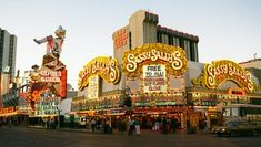 Sassy Sallys Downtown Las Vegas.  www.all-chips.com sells chips from all the Vegas casinos and many many more...