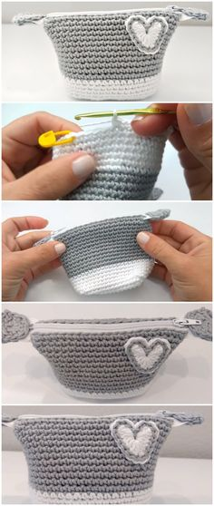 Crochet Beautiful Purse With Zipper - Free Pattern [Video]