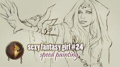 sexy fantasy girl #24  ► Скетчи