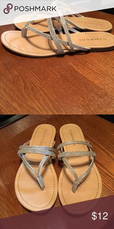 cf6602c6f Rampage sandals Rampage April gold glitter sandals Rampage Shoes Sandals  Glitter Sandals