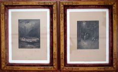 signed by Gustave More & Alfred Tennyson + the engraver ~ in two wonderful frames with glass Previously sold by IM (Therefore) fine art & manuscripts Gustave Dore, Frames, Pencil, Fine Art, Antiques, Glass, Things To Sell, Home Decor, Antiquities
