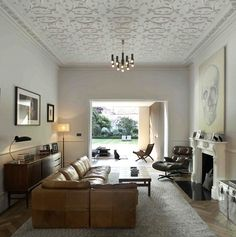 I love everything about this house - proportions, decor, layout: Chiswick House Living Room Remodelista