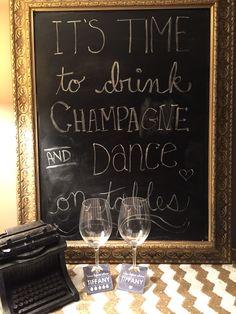 DIY chalkboard frame and custom chalkboard Champagne and Cupcake Tags! Framed Chalkboard, Chalkboard Quotes, Champagne Cupcakes, Art Quotes, Tags, Unique Jewelry, Handmade Gifts, Etsy, Kid Craft Gifts