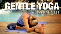 Gentle 45 Minute Tropical Yoga Class - Five Parks Yoga Full length gentle yoga class, perfect for beginners, seniors or just those of you coming back to Y Yin Yoga, Sanftes Yoga, Yoga Flow, Vinyasa Yoga, Yoga Sequences, Yoga Poses, Parks, Gentle Yoga, Stress