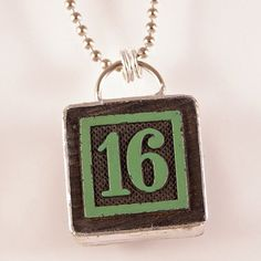 Number 16 Pendant by XOHandworks $20