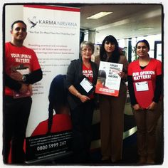 University of Derby honorary graduate, Jasvinder Sanghera at Derby campus seeking students' views on forced marriage