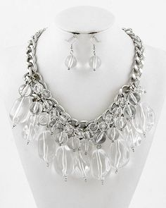 Domino Dollhouse - Plus Size Clothing: Crystal Statement Necklace