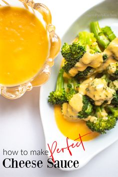 Quick and easy homemade, foolproof cheese sauce recipe for broccoli, macaroni and cheese, casseroles or dipping!    #easyhomemadecheesesauce #cheesesaucerecipeforbroccoli #cheesesauceformacaroniandcheese Clean Eating Recipes, Healthy Dinner Recipes, Appetizer Recipes, Appetizers, Easy Recipes For Beginners, Cooking For Beginners, Recipe For Mom, Recipe Share, Macaroni And Cheese Casserole