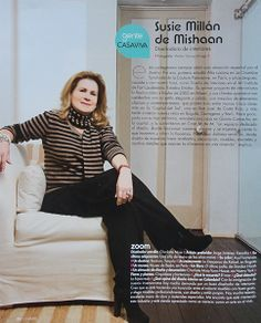 Susie Millan de Mishaan, creadora de MDeM Designs / Susie Millan de Mishaan, owner and creator of MDeM Desings