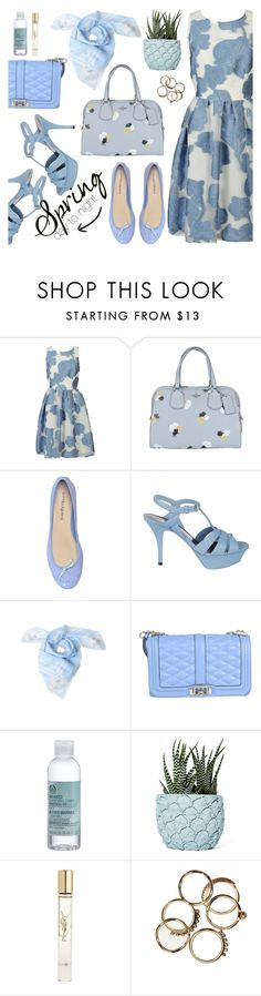 """""""Spring day to night"""" by italist ❤ liked on Polyvore featuring P.A.R.O.S.H., Coach, ANNA BAIGUERA, Yves Saint Laurent, Kenzo, Rebecca Minkoff, The Body Shop and Chen Chen & Kai Williams"""