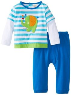 ABSORBA Baby-Boys Newborn At The Circus Pant Set, Blue/Stripe, 0-3 Months - $9.67 - 41% off.