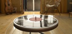 Wheel by Minot is going to be your new favorite record player with only a minimalistic wheel design for the vinyl to spin on!