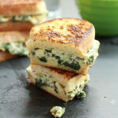 """The best Superbowl foods! Spinach & Artichoke grilled cheese #HomeBowlHeroContest"""""""