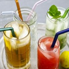 Glass straws for eco-minded smoothie slurping :) $19.50 for set with brush.