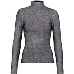 T by Alexander Wang Ribbed knit turtleneck sweater ($375) ❤ liked on Polyvore featuring tops and sweaters