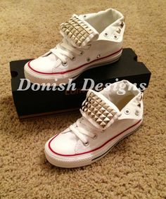 Custom Studded Converse Shoes by DonishDesigns on Etsy Studded Converse b1958f04f