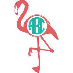 Silhouette Design Store: flamingo monogram