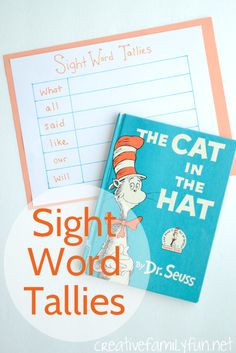 Sight Word Tallies: a fun sight word activity for kids. How many sights words can you find in a book? by therese Teaching Sight Words, Sight Word Practice, Sight Word Games, Sight Word Activities, Letter Activities, Literacy Stations, Kindergarten Literacy, Literacy Activities, Activities For Kids