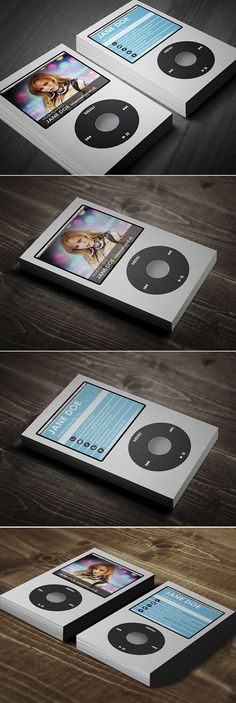 I Music Business Card by Jorge Lima, via Behance So Creative !!! #BusinessCardMaker