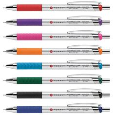 FORAY® Advanced Ink Retractable Ballpoint Pens, Needle Point, 0.7 mm, Assorted Barrels, Assorted Ink, Pack Of 8