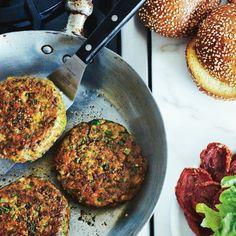 Chickpea-falafel burgers