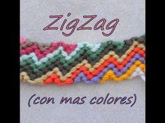 Pulsera de Hilo: ZigZag (mas colores) - YouTube