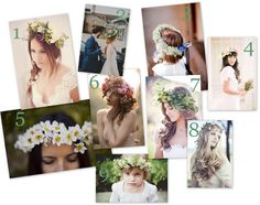 Floral Crowns for the bride! Plus, some tips on finding or making your own. http://su.pr/2wu2HY #wedding #florals #bridal