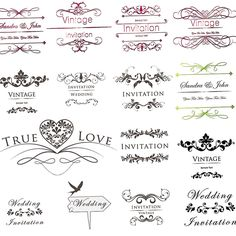122 best wedding invitations cards backgrounds images on pinterest inscription wedding invitations with floral ornament vector free for download and ready for print over stopboris Gallery
