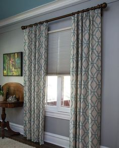Luxe Linen Grand Cell Light-filtering Honeycomb Shades - 15099, Soft Top Drapery - 16673, Wrought Iron Grand Rod Set - 3242