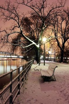 a snowy evening in Paris