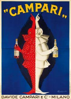 Campari Red & White Vintage poster