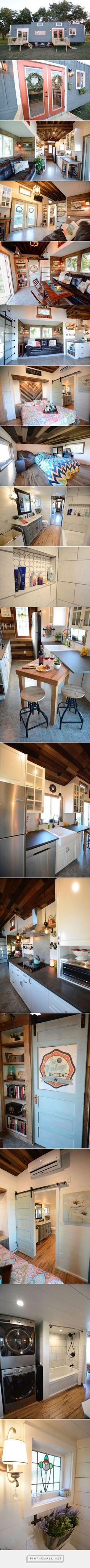 Vintage Retreat by Hill Country Tiny Houses - Tiny Living - created via https://pinthemall.net #CountryBathrooms