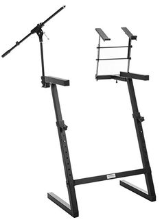 Classic Cantabile KWS 100 Z Keyboard Stand Microphone Stand and Laptop Holder Steel Adjustable Height Legs Double with Cap Professional Accessory...only rated 2 stars (poor quality). Would like to find something like this in U.S.