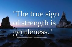 True strength in gentleness! Words Quotes, Wise Words, Me Quotes, Art Sayings, Quotable Quotes, Motivational Quotes, This Is Your Life, Spiritual Wisdom, Words To Describe