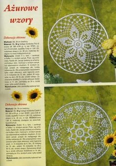 Zawieszki do okien - TitinaKrkM - Picasa Web Albums Crochet Chart, Thread Crochet, Crochet Home, Love Crochet, Crochet Designs, Crochet Patterns, Dream Catcher Patterns, Crochet Rings, Crochet Dreamcatcher