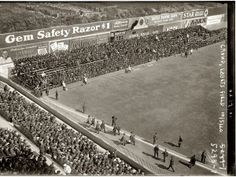 Crowd at Ebbets Field on October 5, 1920. Game one of the World Series, Brooklyn Dodgers vs. Cleveland Indians.
