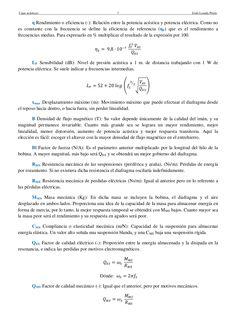 Cajas acústicas 8 Jesús Losada PrietoQTS Factor de calidad total (-): Indica la amortiguación de la resonancia, mostrando ...