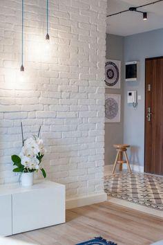 Déco Noir Et Blanc Dans Un Pe Artement Chic Raffiné White Brickspaper Wallpapercontact Paperbrick Wall