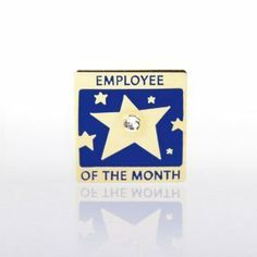 Lapel Pin - Employee of the Month w/ Gem by Baudville. $5.95. Each lapel pin is beautifully crafted and individually packaged in a plastic snap box. All lapel pins have a military clutch backing. Lapel pin present