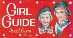 Historical Girl Guides of Canada cookie boxes