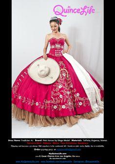 74ca6a40d Burgundy charro Quinceanera dress   Vestido charro de quinceanera Trajes  Charros