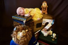 Beauty and the Beast Newborn photo of our baby Zosia. Disney Princess Belle